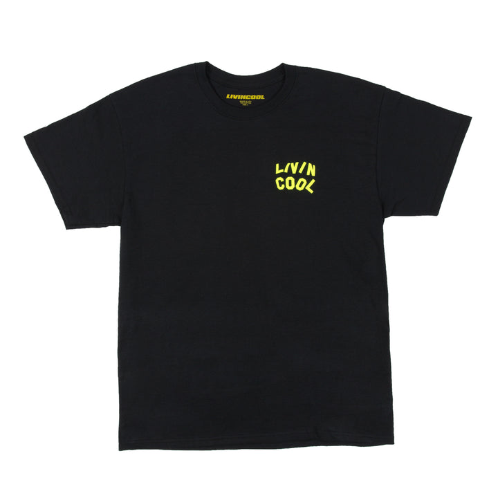 WAVY TEE-BLACK/SAFETY GREEN