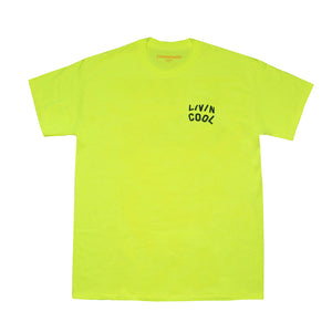 WAVY TEE-SAFETY GREEN