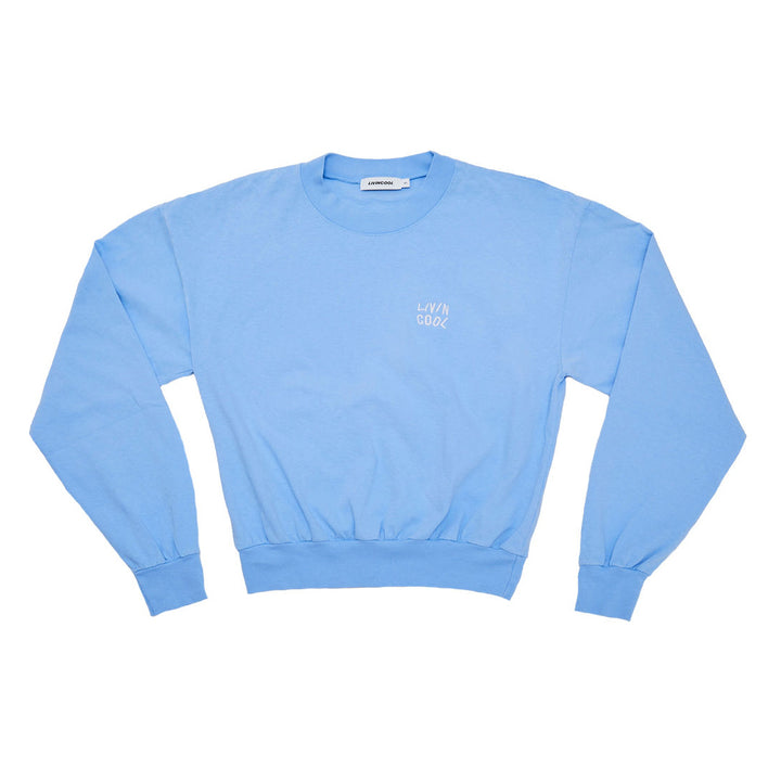 ESSENTIAL LONG SLEEVE MOCKNECK - SKY BLUE