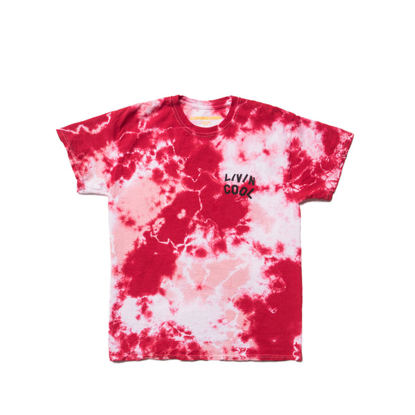 LIVINCOOL TIEDYE RED PINK T-SHIRT