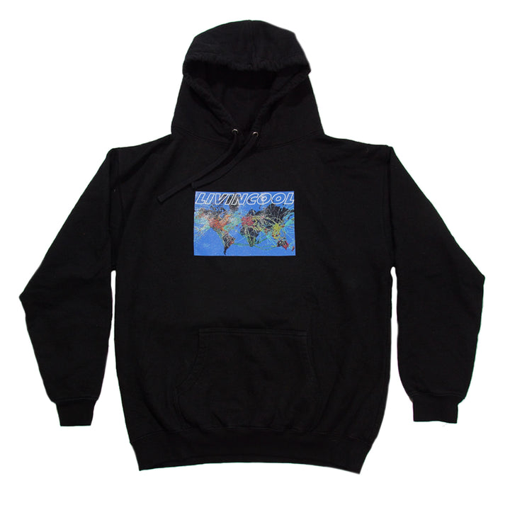 Flight Map Hoodie - Black