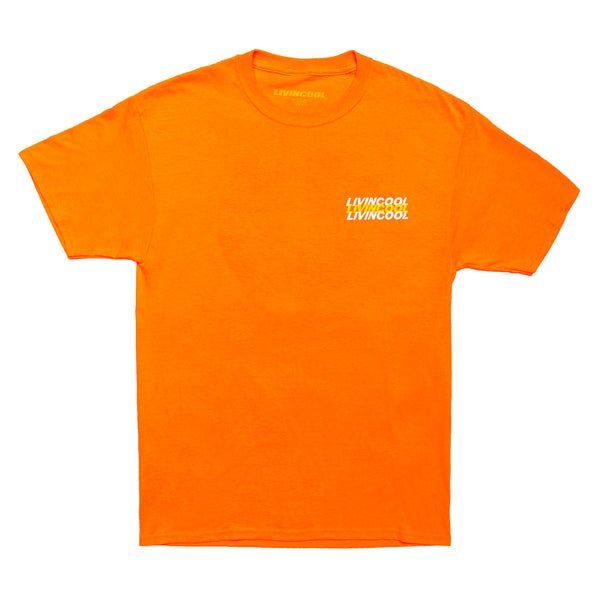 LIVINCOOL WORLD LOGO ORANGE T-SHIRT