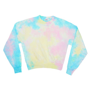 ESSENTIAL LONG SLEEVE MOCKNECK - PASTEL TIE DYE