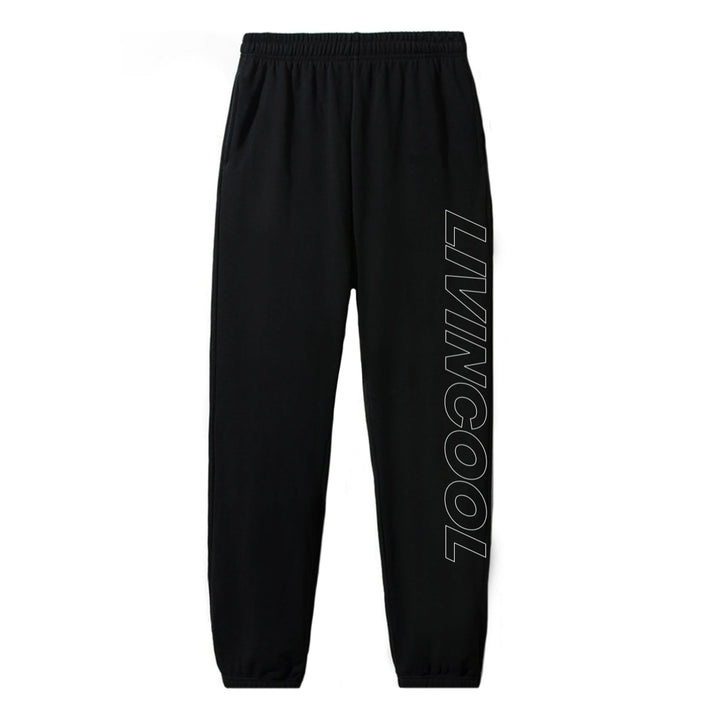 SLICK OUTLINE SWEATPANTS - BLACK