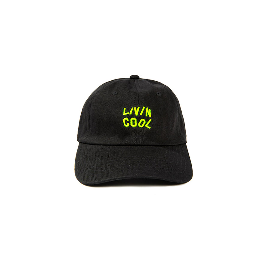 WAVY CAP- BLACK/SAFETY GREEN