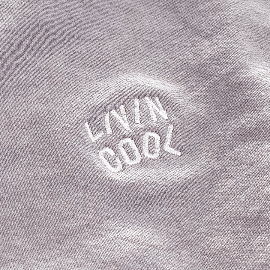 EMBROIDERED WAVY CROPPED SWEATSHIRT - LILAC