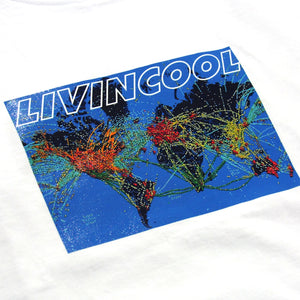 FLIGHT MAP TEE - WHITE