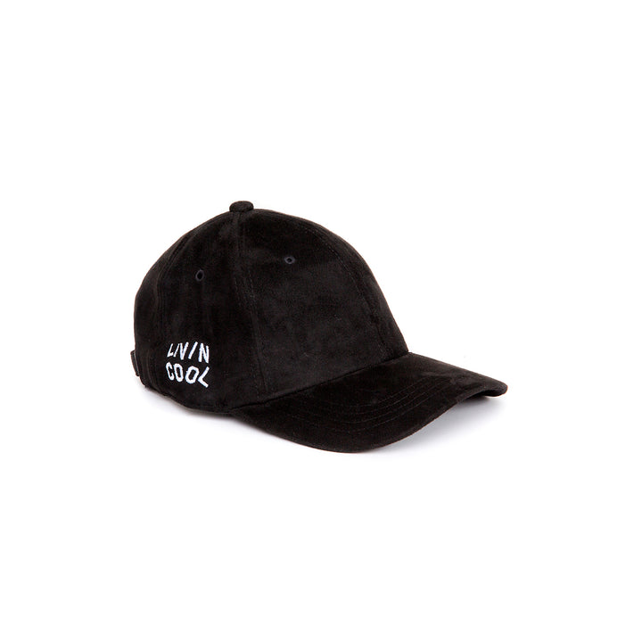SIDE WAVY CAP-BLACK SUEDE
