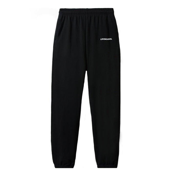 CLASSIC EMBROIDERED BLACK SWEATPANT