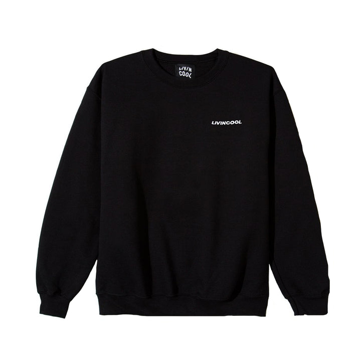 CLASSIC EMBROIDERED CREWNECK - BLACK