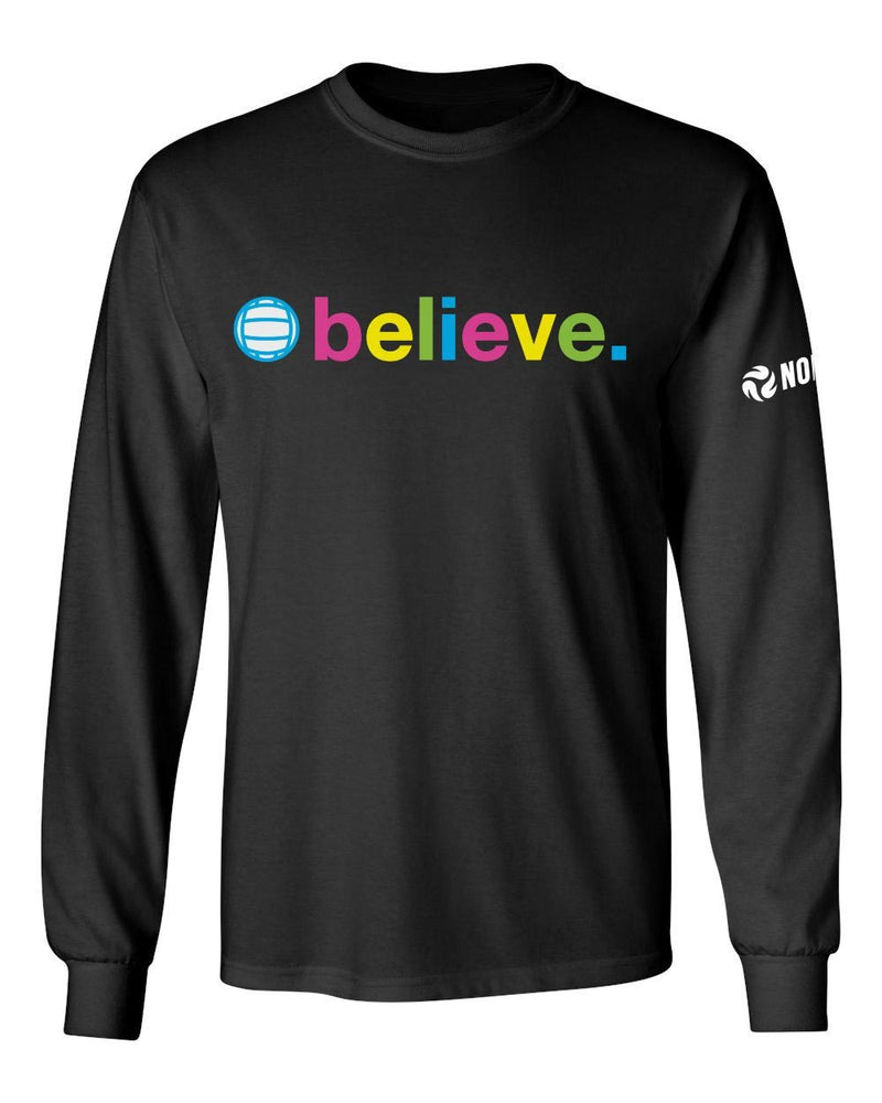 Neon Believe Long Sleeve Shirt - No Dinx Volleyball