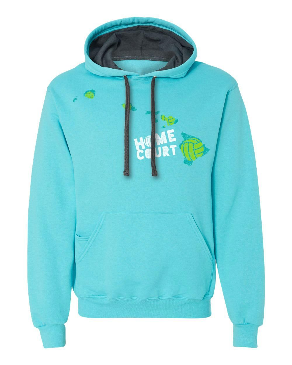 Hawaii: Home Court Hooded Sweatshirt - No Dinx Volleyball