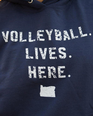 Volleyball Lives Here - OR - No Dinx Volleyball