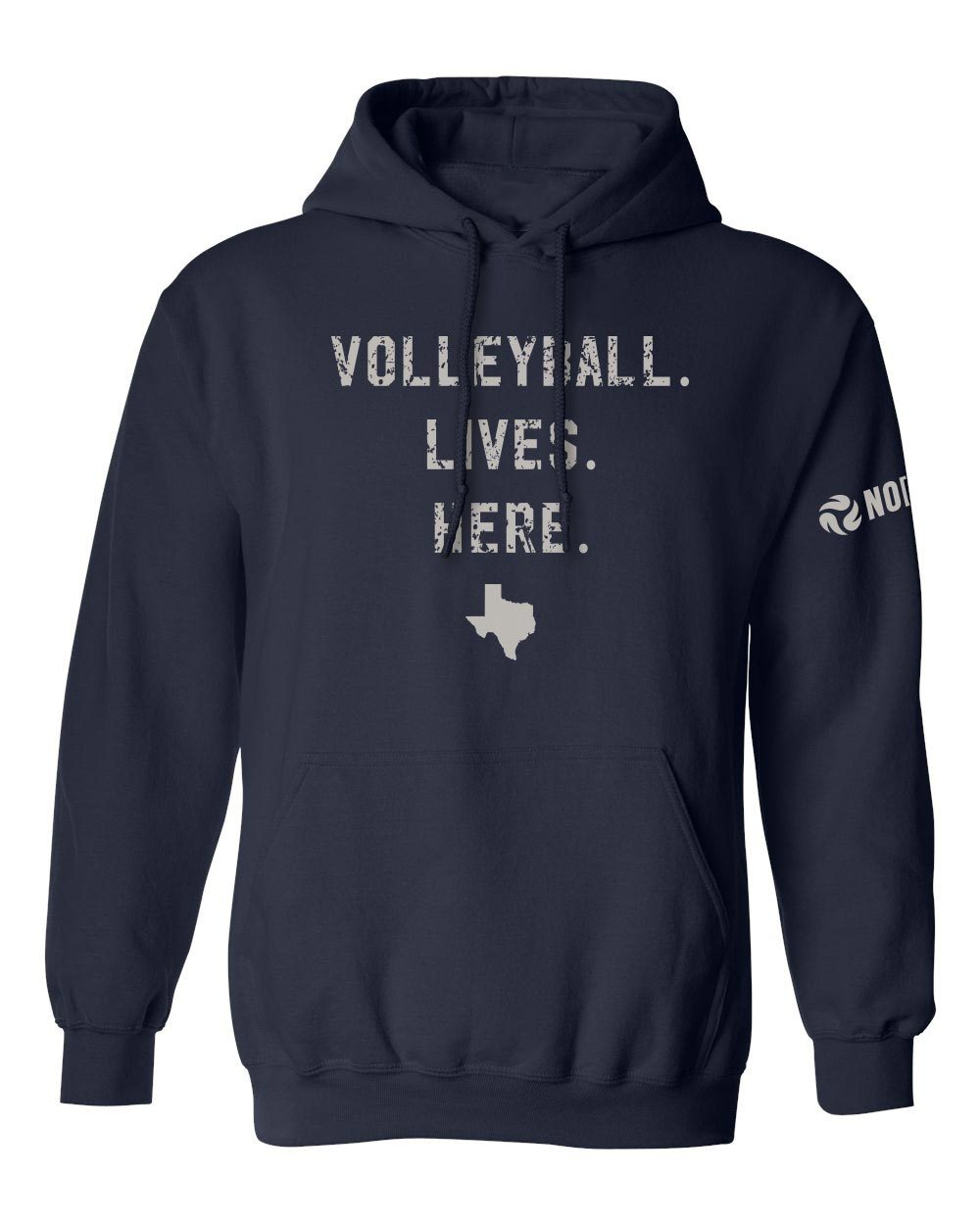 Volleyball Lives Here - TX Hooded Sweatshirt - No Dinx Volleyball
