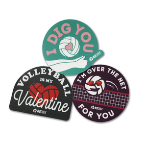 Valentines Day Sticker Pack - No Dinx Volleyball