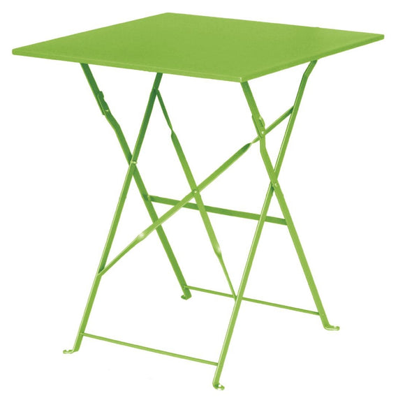 Bolero Lime Green Square Pavement Style Steel Table - From as little as $0.36 per day