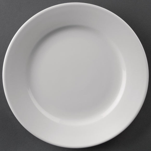Athena Hotelware Wide Rimmed Plates 165mm - Set of 12