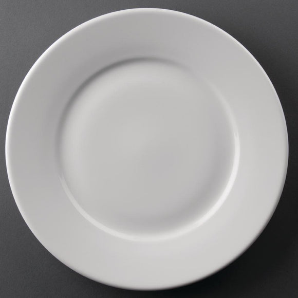 Athena Hotelware Wide Rimmed Plates 254mm - Set of 12