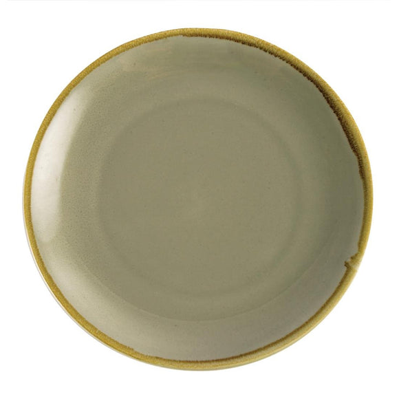 Olympia Kiln Round Plate Moss 280mm - Set of 4