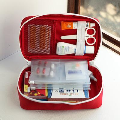 Portable Multi-Layer First Aid Kit Pouch
