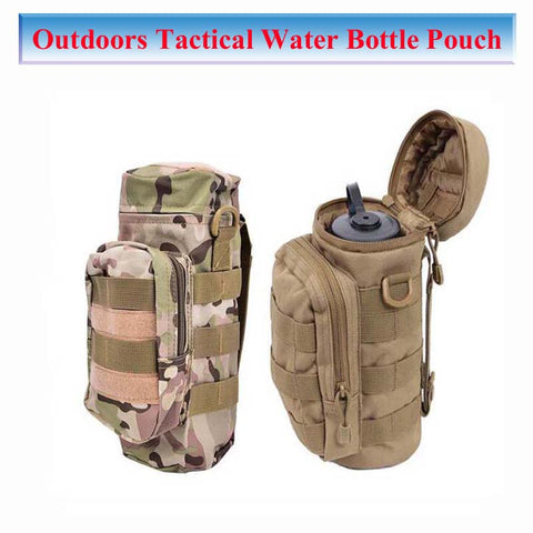 NEW 2018 Outdoor Tactical Water Bottle Bag Army Tactical Kettle Pouch Climbing Hiking Kettle Bag Camping Travel Sport Bottle Bag