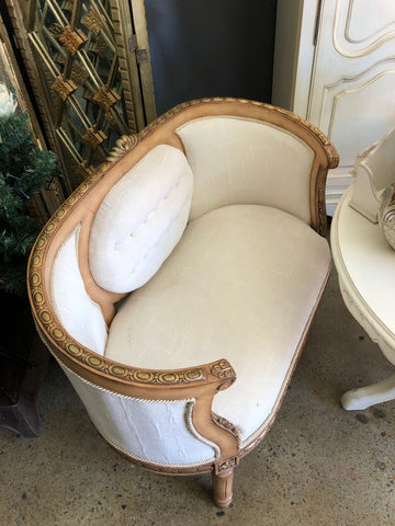 Gold and White love chair