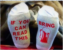 fashion christmas  socks  men women kawaii funny sock Winter if you can read this bring me a glass of wine socks