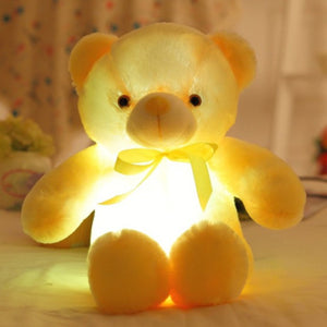 50cm Creative Light Up LED Teddy Bear Stuffed Animals Plush Toy Colorful Glowing Teddy Bear Best Christmas Gift
