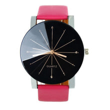 Mens Watches 2018 PU Leather Round Case Casual