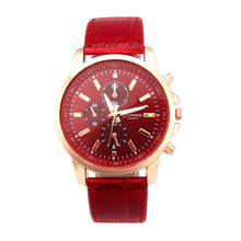 watch mens fashion watches luxury Casual Geneva PU Leather Analog Dial Quartz Wrist Watches Relogio Masculino