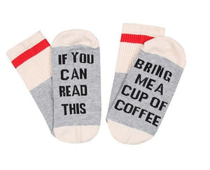 16 Styles humor words printed socks If You can read this Bring Me a Glass of Wine Cotton casual socks unisex socks free shipping