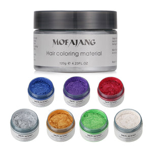 Colourful Hair Wax - Temporary Hair Dye