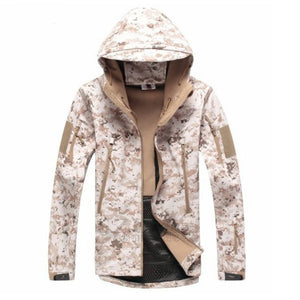 TACVASEN Army Camouflage Men Jacket Coat Military Tactical Jacket Winter Waterproof Soft Shell Jackets Windbreaker Hunt Clothes