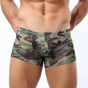 Military Men's Camouflage Boxer Briefs Trunks Underwear Underpant