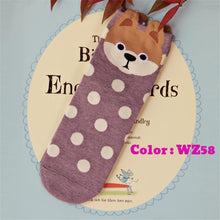 2018 Autumn And Winter Womens Socks Small Ear Cartoon Animal Series Cute dog Harajuku Style meias Funny Socks Gifts