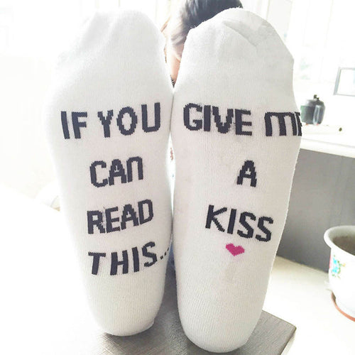 socks If You can read this Unisex Men Women Short Socks Hot Selling