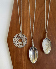 Silver spoon pendant with chain