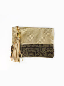 Melati Pouch (Gold + Brown)