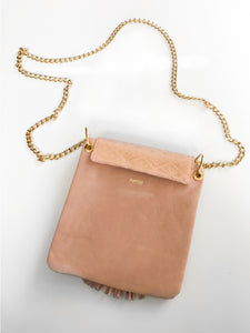 Lapis Bag (Peach + Gold)