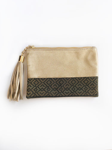 Melati Pouch (Black + Gold)