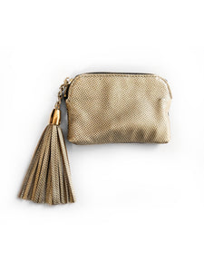 Melati Purse (Brown + Gold)