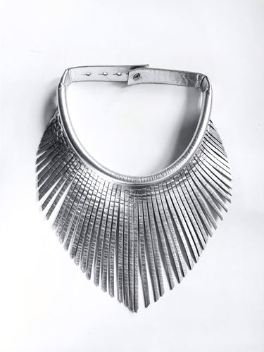 Dayak Fringe Necklace (Silver)