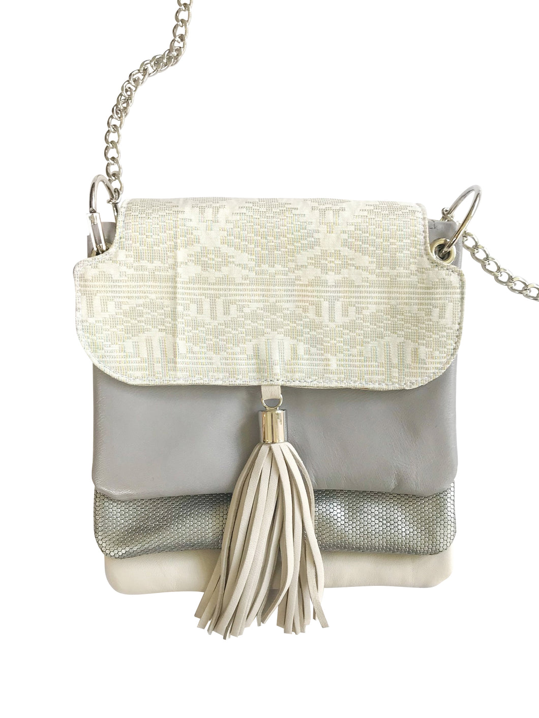 Lapis Bag (Gray + Silver)