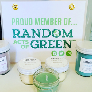 Random Acts of Green and Allen Wick Candles