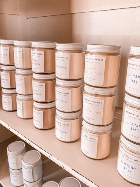 Blue Raspberry Soy Jar Candle (Small and Medium)