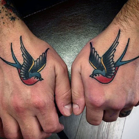 b3c8bff7c The swallow tattoo is noteworthy for both its symbolism and superstition.  According to one legend, each swallow tattoo was a symbol of a sailor who  has ...