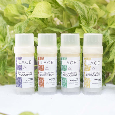 Natural Deodorant 4 Pack - Whiskey, Ink, & Lace