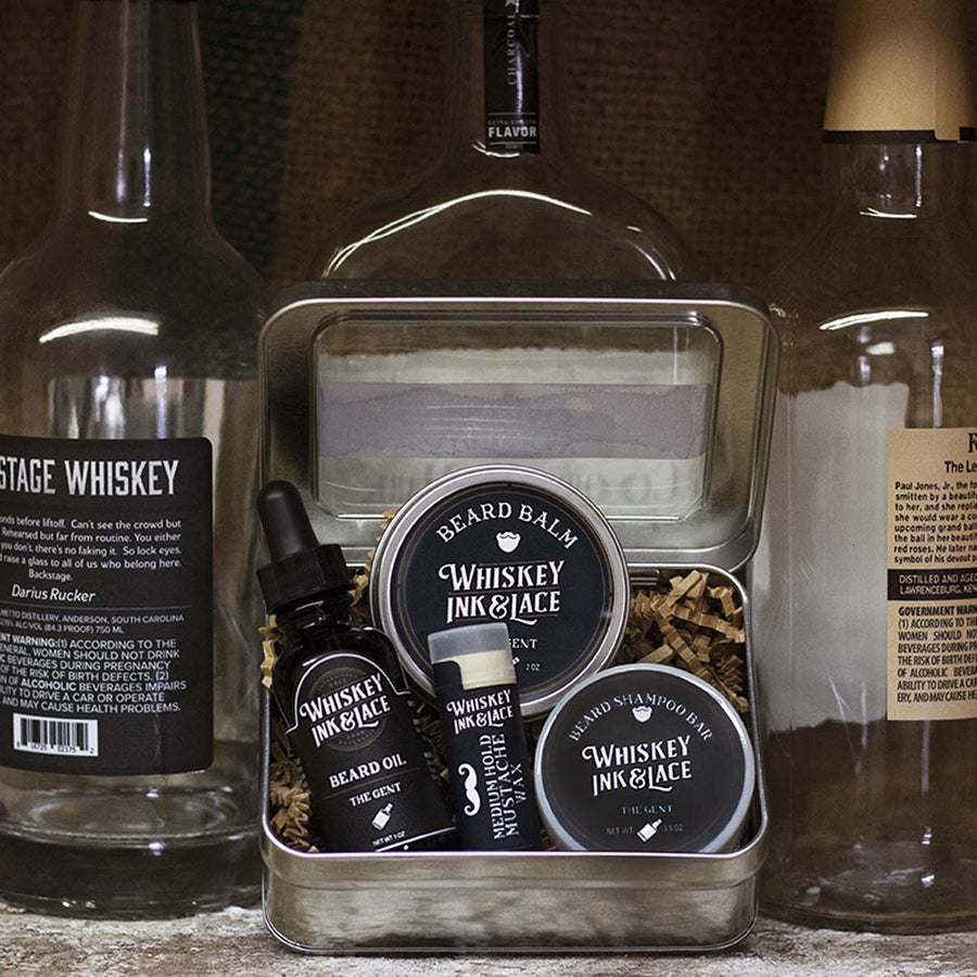 The Gent Beard Kit Deluxe - Whiskey, Ink, & Lace