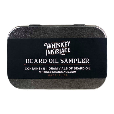Beard Oil Sampler - Whiskey, Ink, & Lace