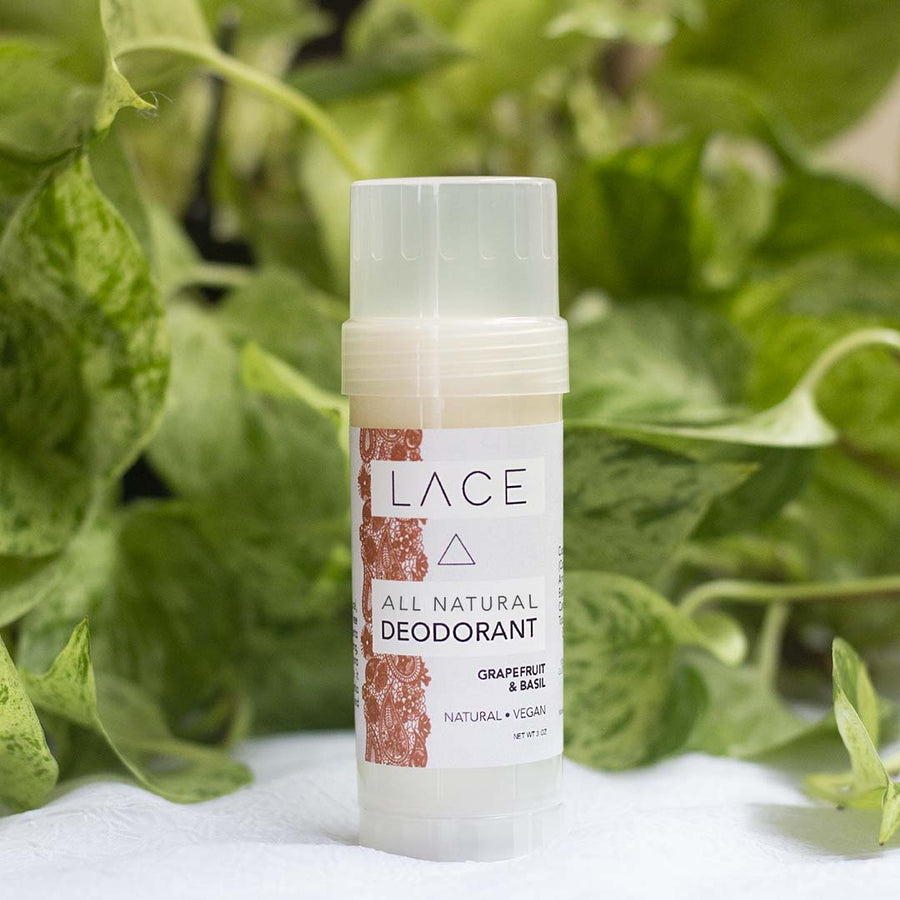 Grapefuit & Basil Natural Deodorant - Whiskey, Ink, & Lace